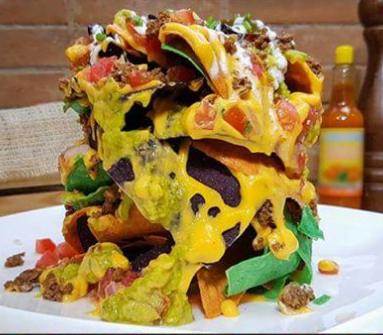Fiery style nachos